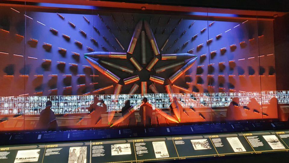 изображение зала со снарядами в музее 1418 шагов к победе